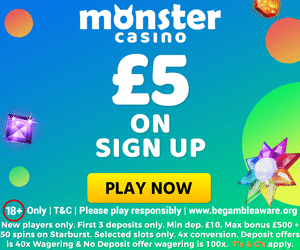 monster casino free offer